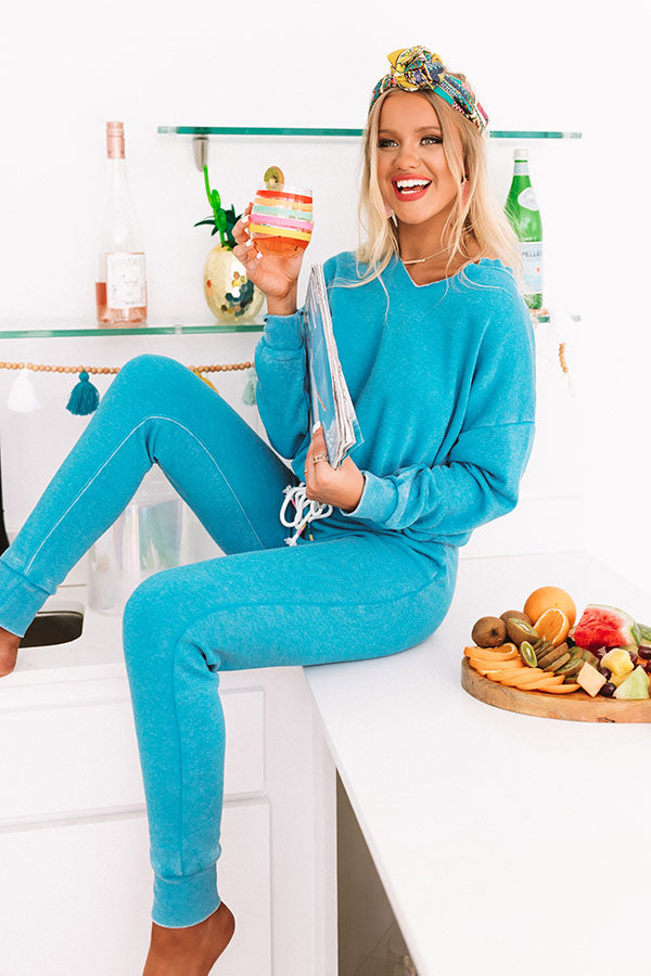 Lounging In Los Angeles Sweatshirt In Ocean Blue