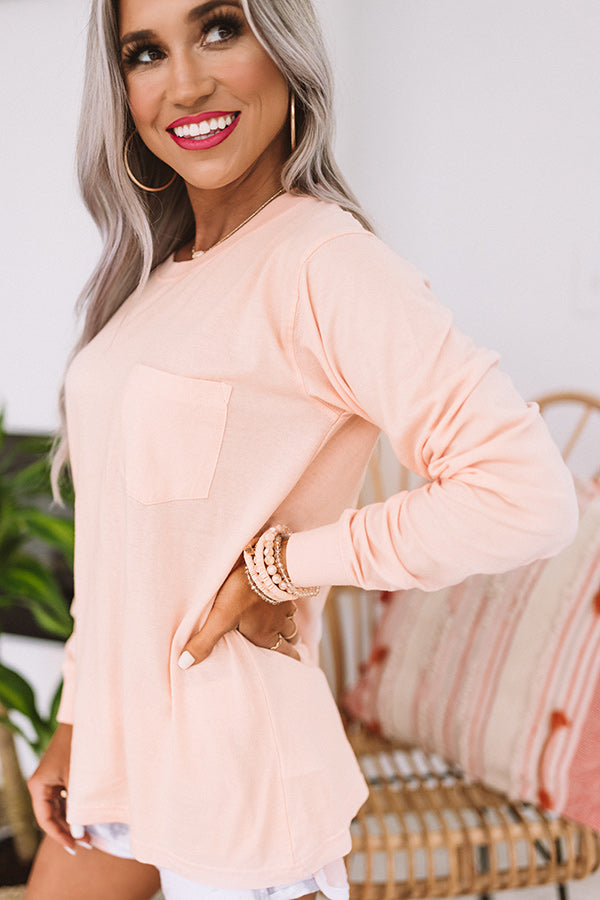 Travel With Me Shift Tee In Peach