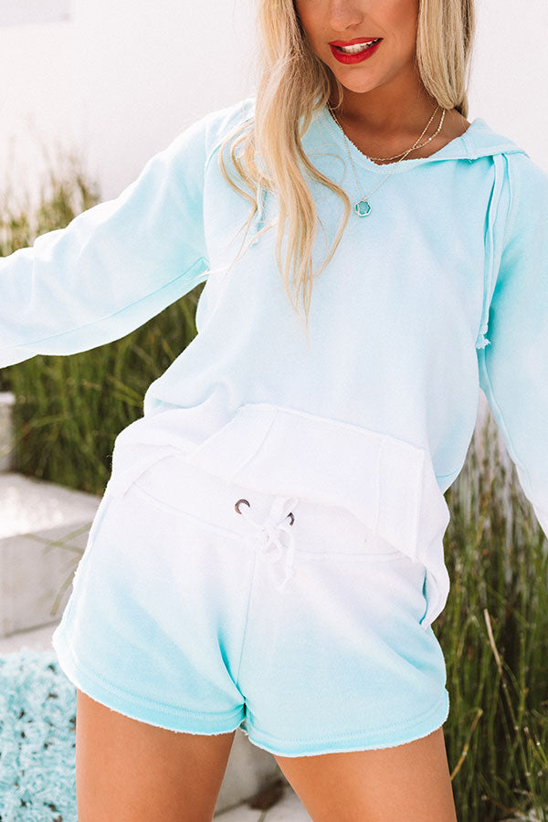 Tea And Cozy Ombre Shorts In Ocean Wave