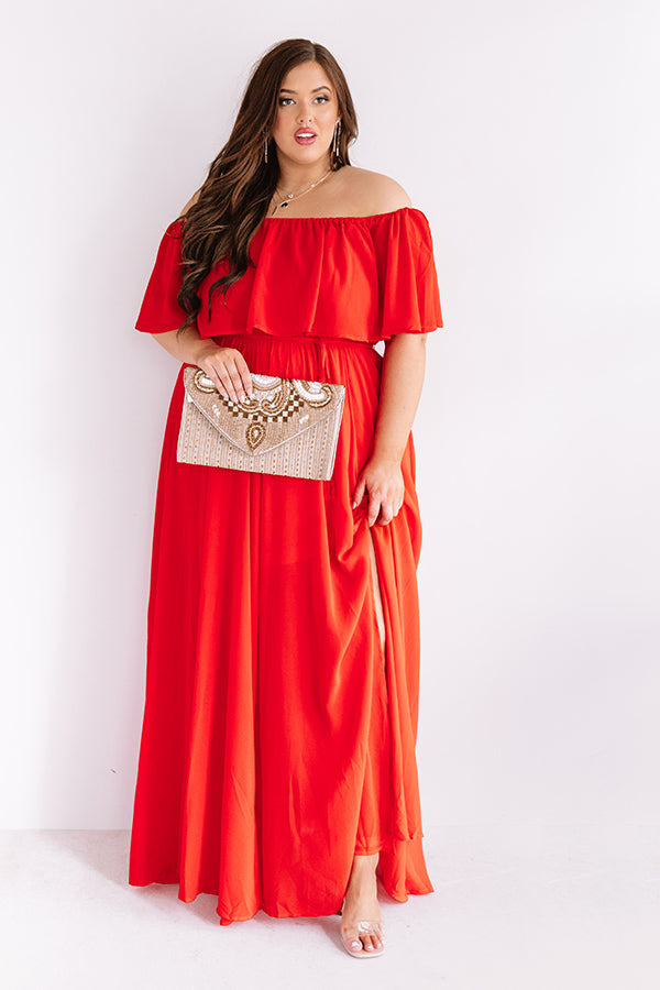 Top Of The Hour Maxi In Red