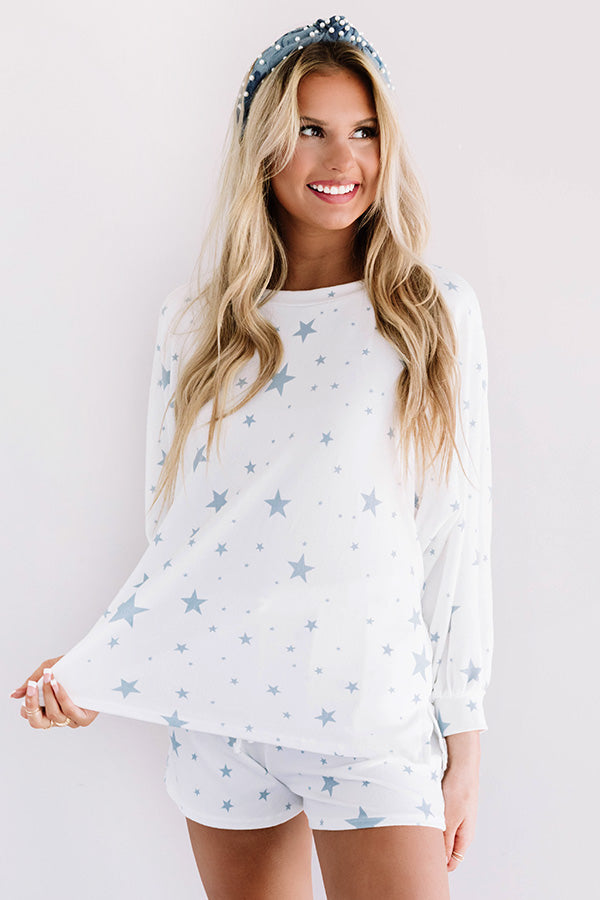 Creature Comforts Shift Top In Blue