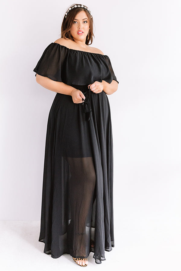 Top Of The Hour Maxi In Black