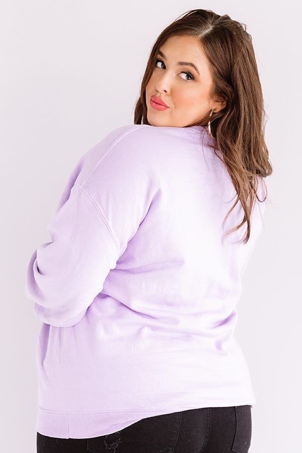Quarantine And Chill Sweatshirt In Lavender