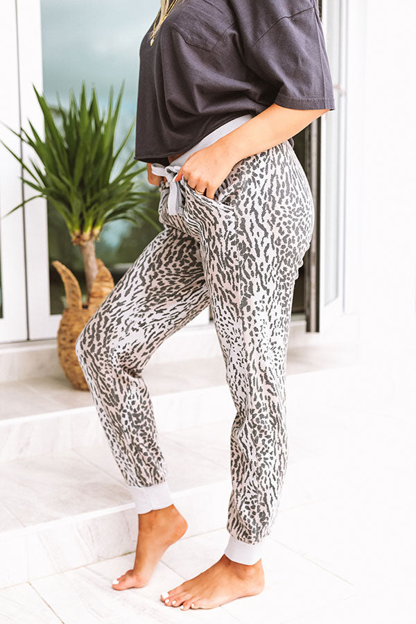Ready, Set, Relax Leopard Joggers