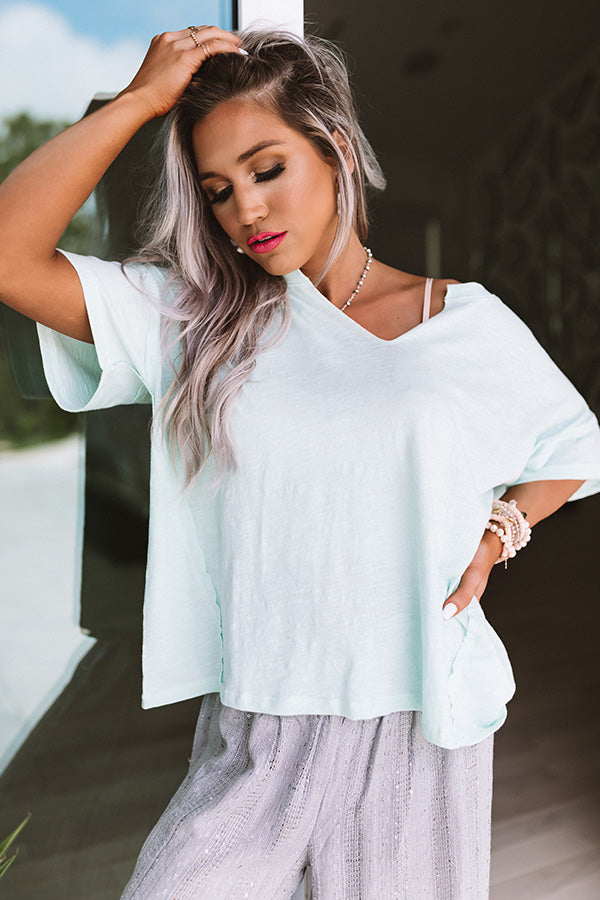Sweet Meadow Shift Top In Mint