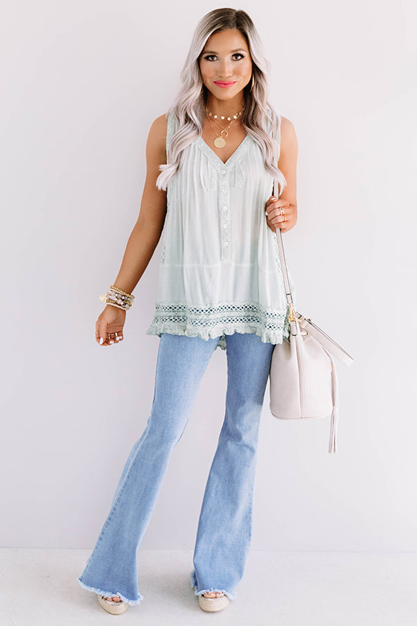 Cali Cruise Crochet Shift Top