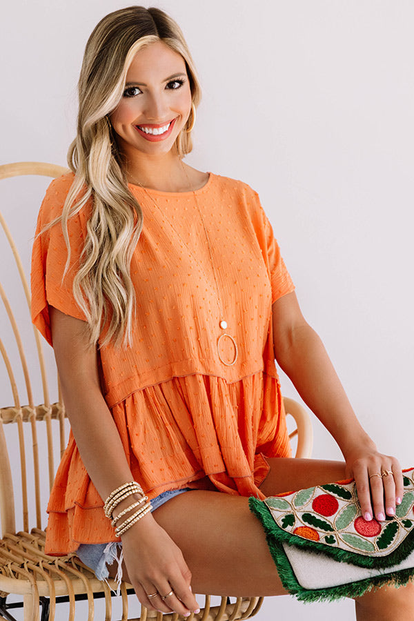 Steadfast Love Shift Top In Persimmon