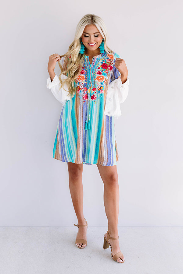 Wildflower Fabulous Embroidered Shift Dress