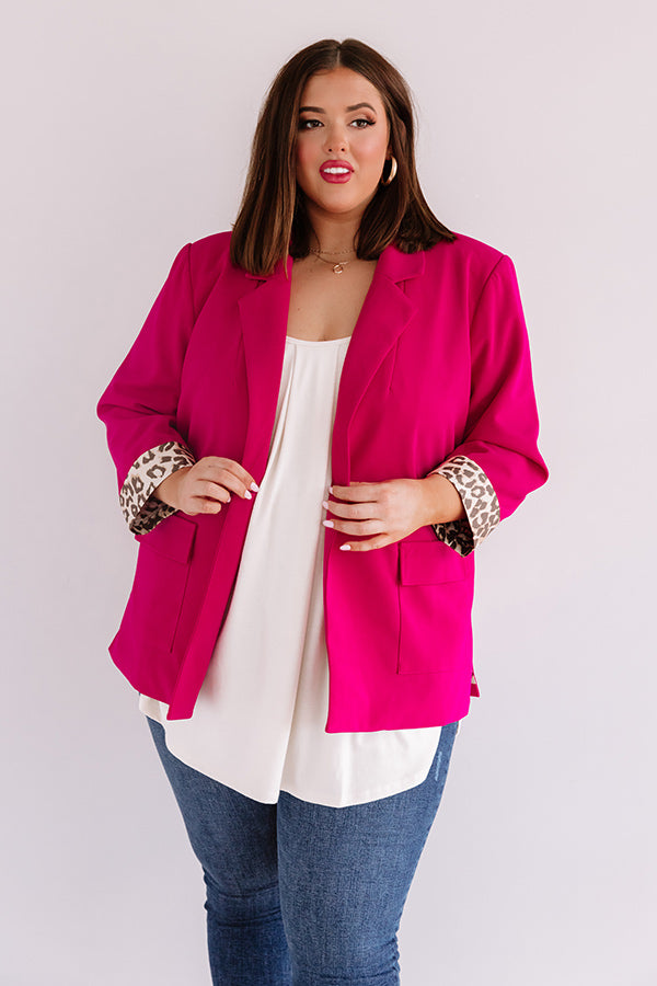 L.A. Fashion Week Blazer in Hot Pink