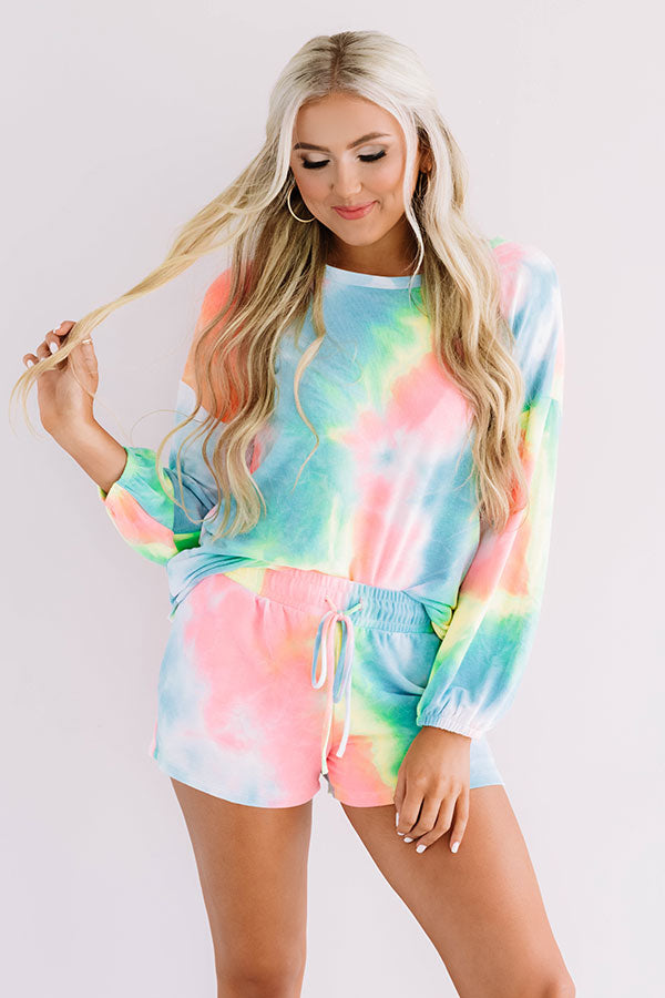 Laguna Beach Lounging Tie Dye Shift Tee