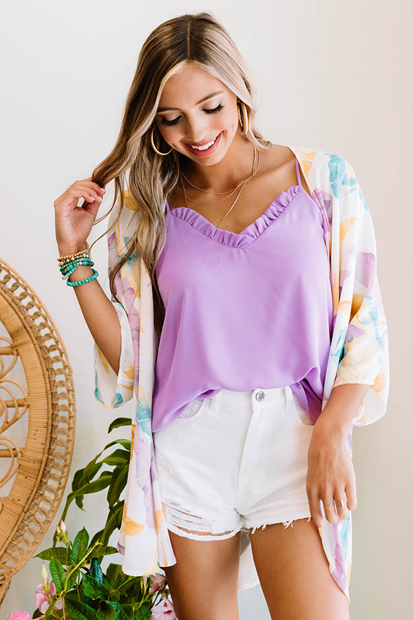 Treasure Island Shift Tank In Lavender