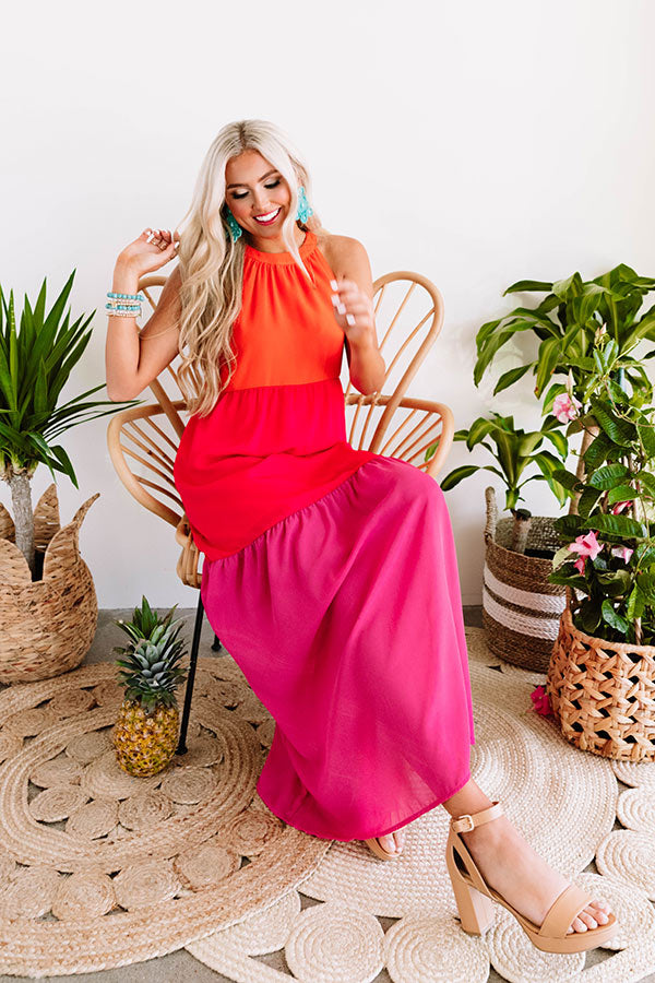 Courtyard Crush Color Block Maxi