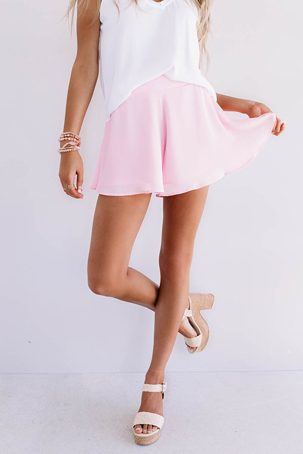 Totally Trending Swing Shorts in Pink