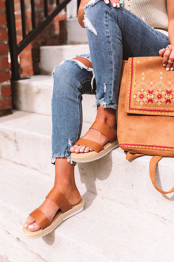 The Avonlea Espadrille In Cinnamon