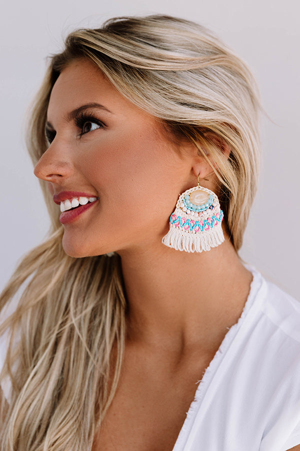 Beach Villa Earrings in Cream