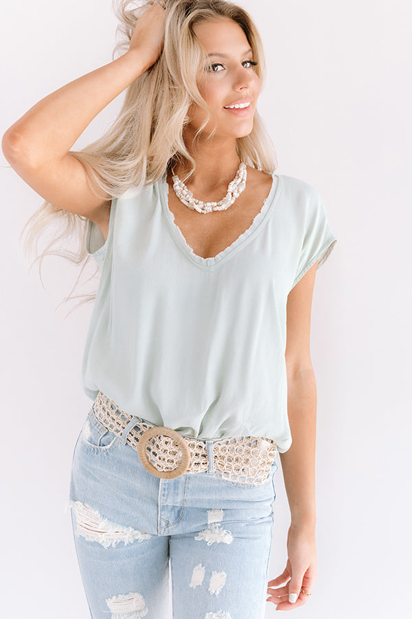 NYC Influencer Shift Top in Mint