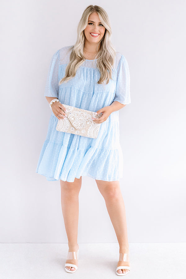 Paris Inspiration Shift Dress in Sky Blue