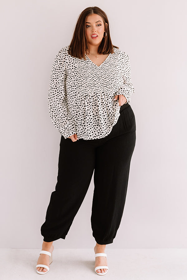 Center Spotlight Leopard Shift Top