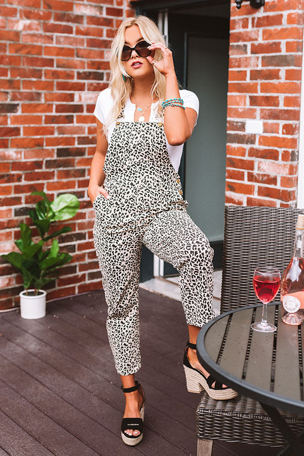 The Emmerlynn Leopard Overalls