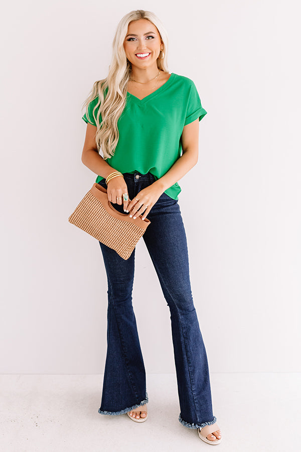 Soho Afternoon Shift Top In Emerald