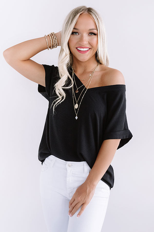 Soho Afternoon Shift Top In Black