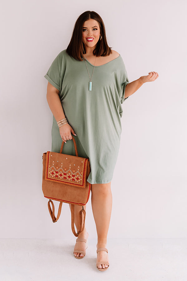 St. Kitts Cutie Shift Dress In Pear