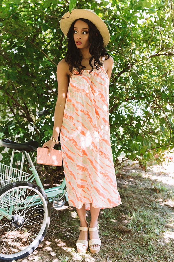 On Tulum Time Tie Dye Midi