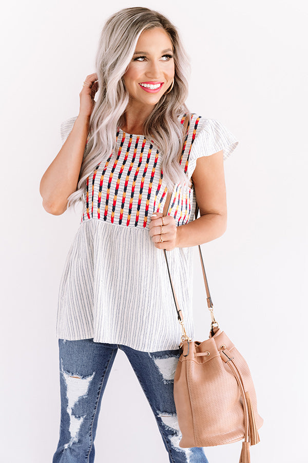 Sweetest Melody Embroidered Top
