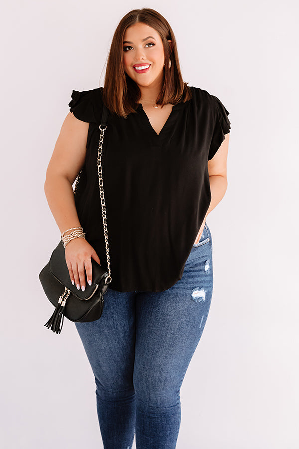 Cambridge Crush Shift Top In Black