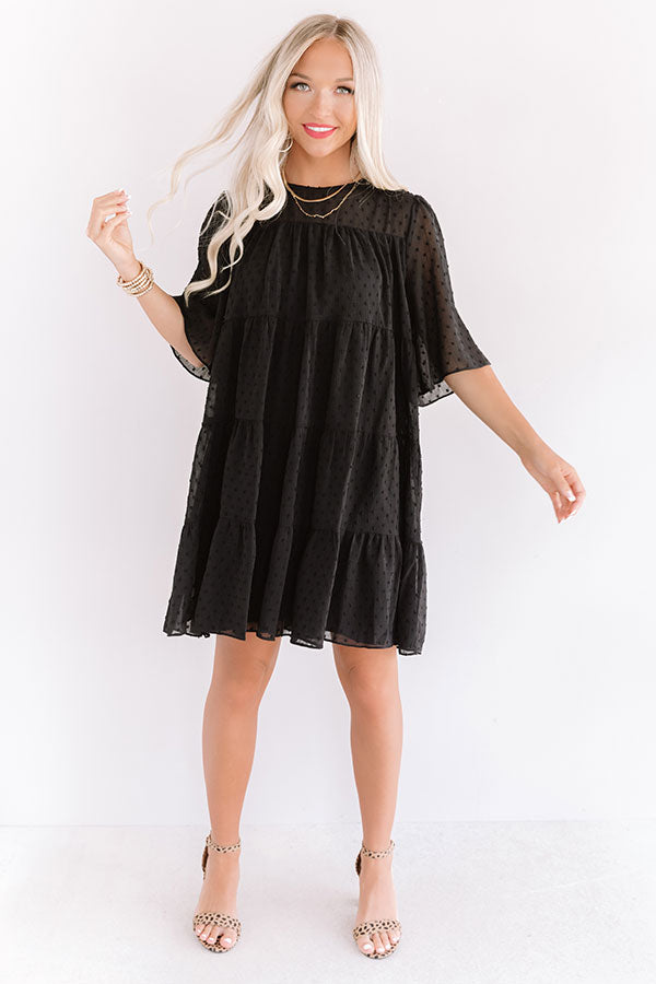 Paris Inspiration Shift Dress in Black