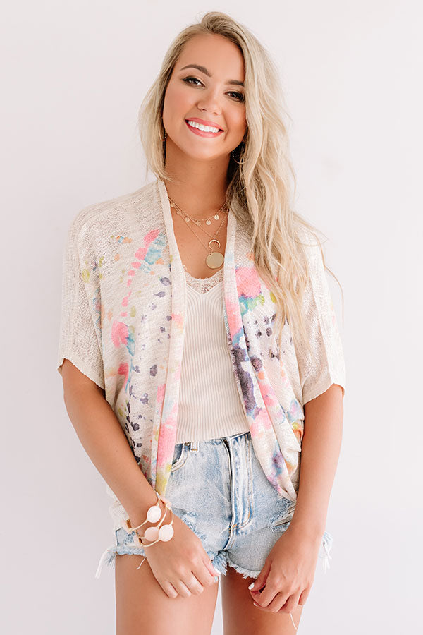 Meant For You Tie Dye Cardigan