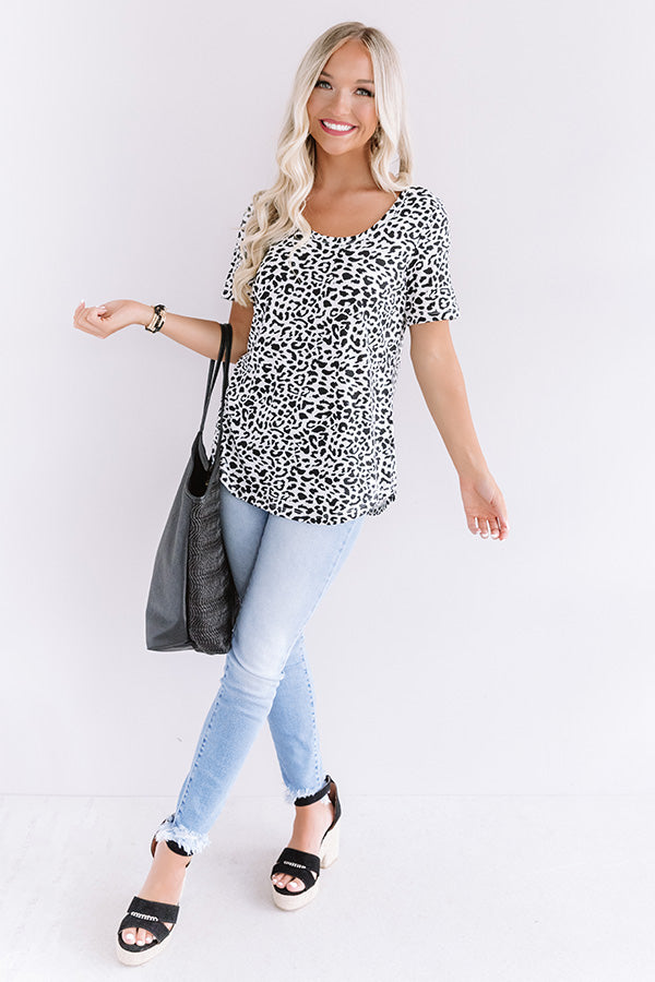 Slow and Steady Leopard Top