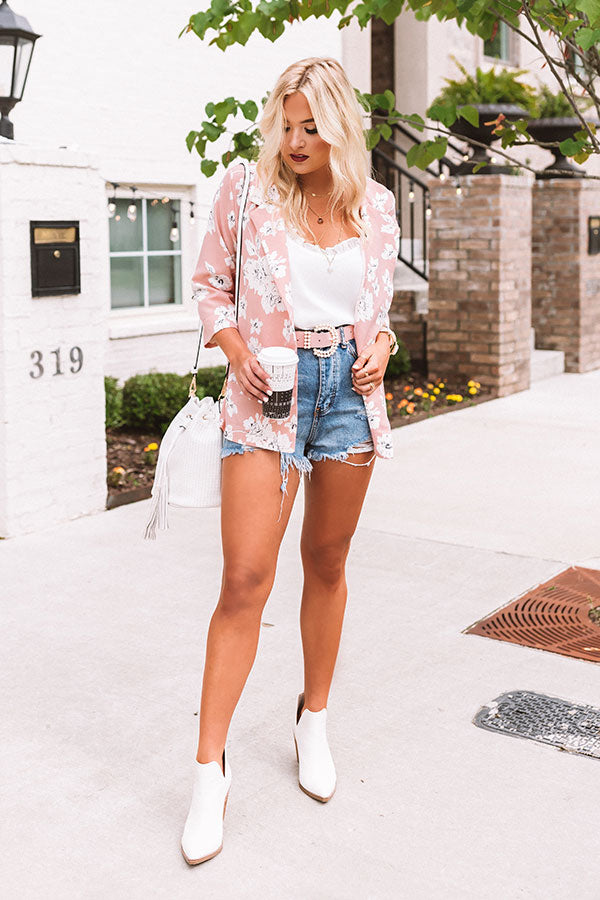 Courtyard Crush Floral Blazer