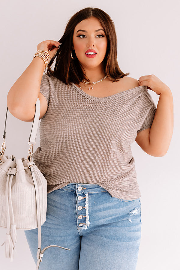 Cafe Crush Waffle Knit Top
