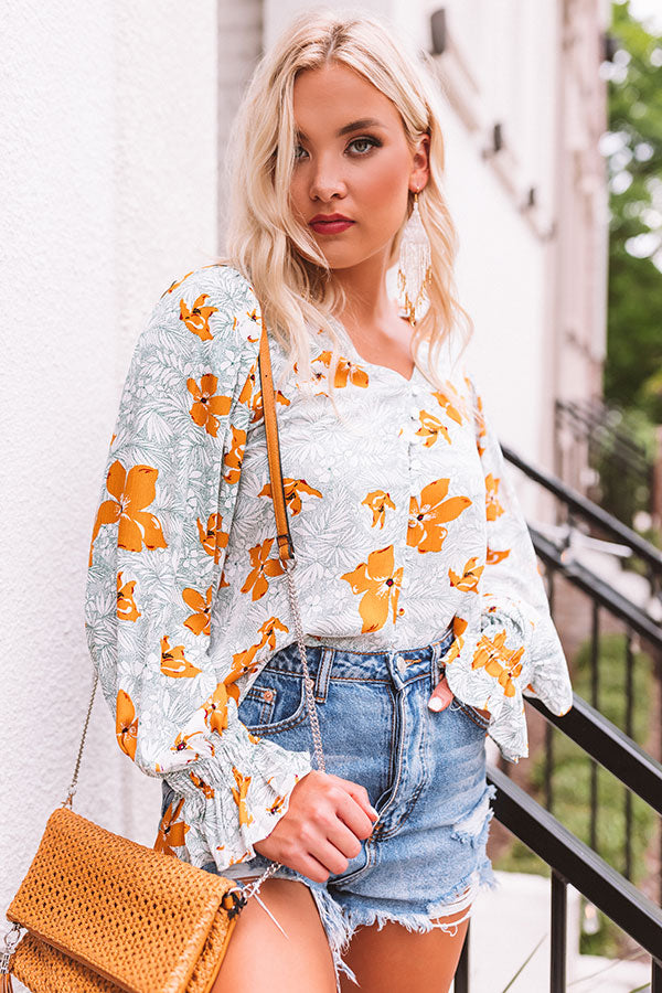 Five O'Clock Somewhere Floral Shift Top