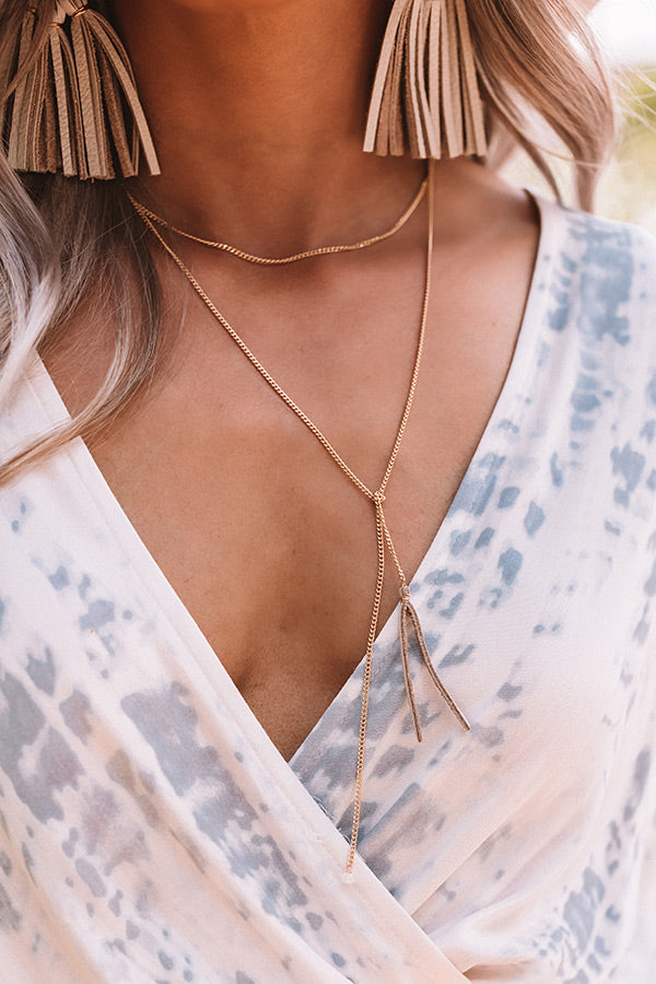 The Liv Wrap Necklace in Grey