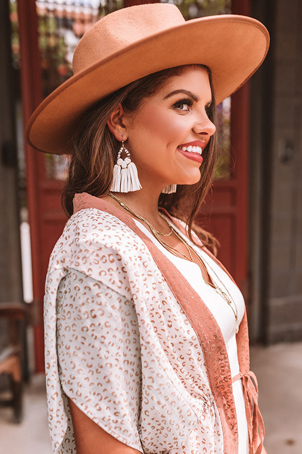 The Penelope Mini Tassel Earrings in White