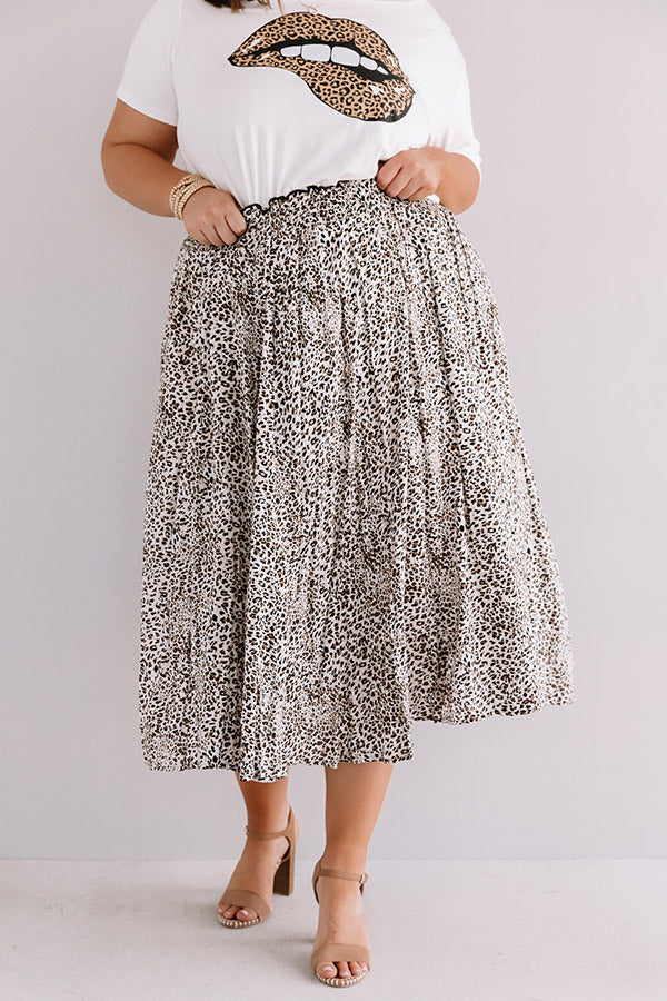 Major Moment Leopard Midi Skirt