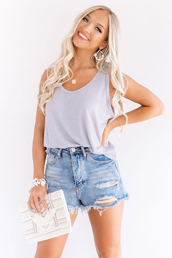 Travel Muse Knit Tank in Grey