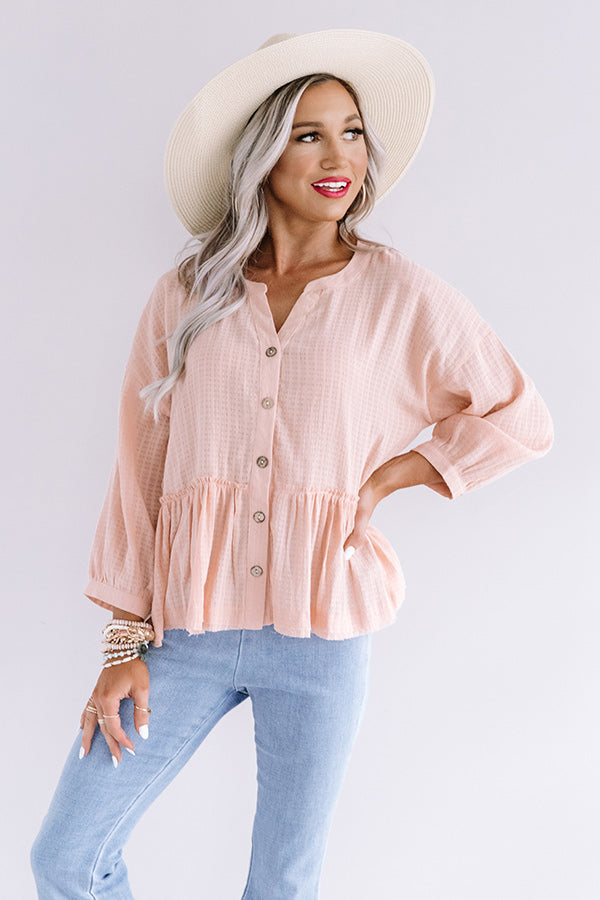 Chic Soleil Shift Top in Pink