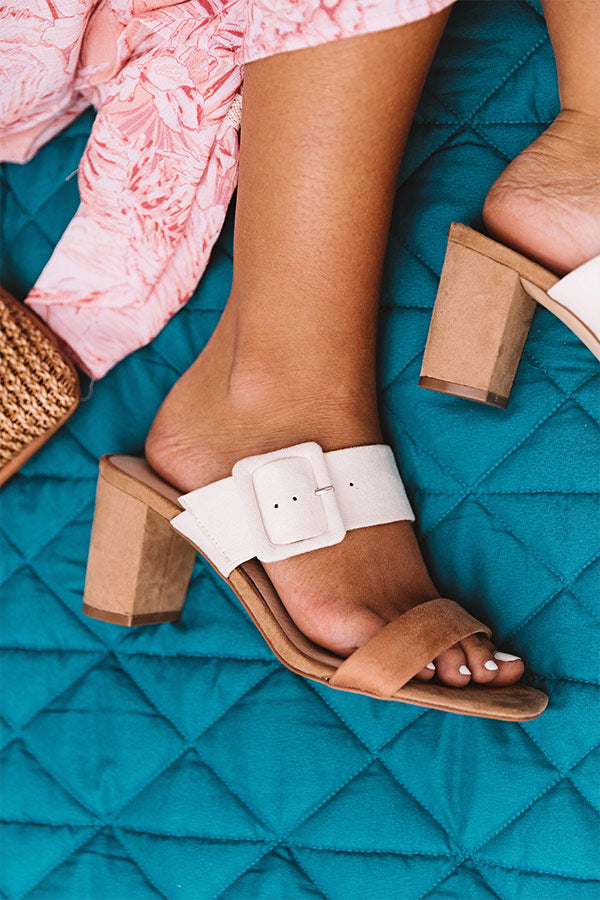 Yippy Faux Suede Block Heel