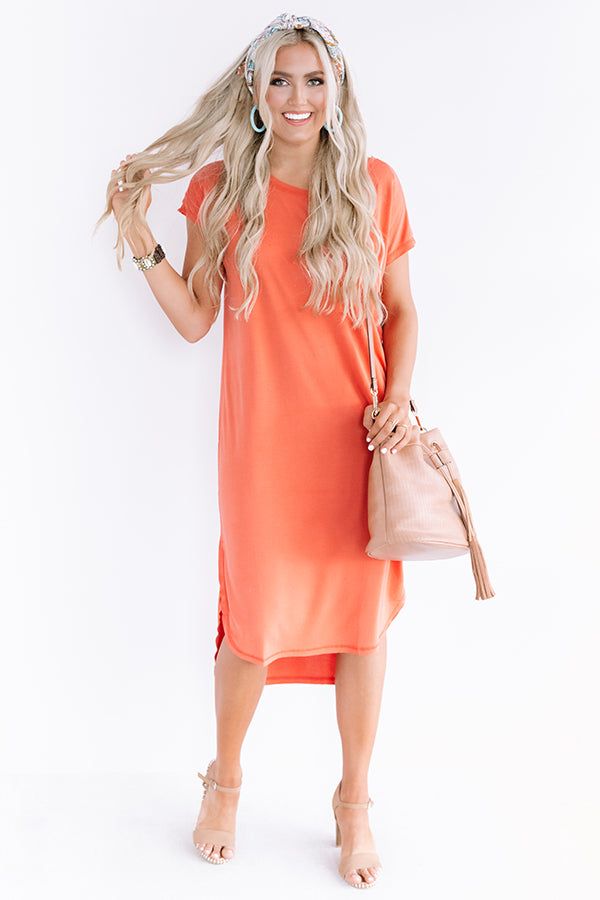 Huntington Beach Happy Hour Midi In Orange