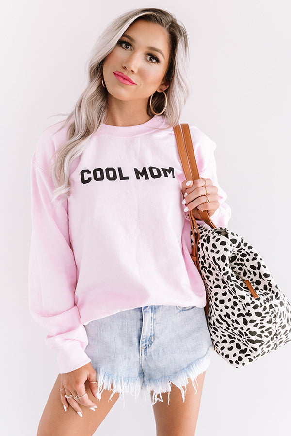 Cool Mom Sweatshirt In Pink