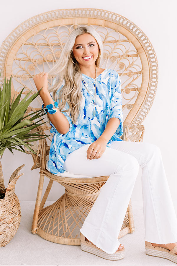At The After Party Tunic In Sky Blue