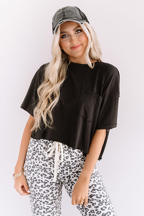 Cool Girl Crop Top in Black