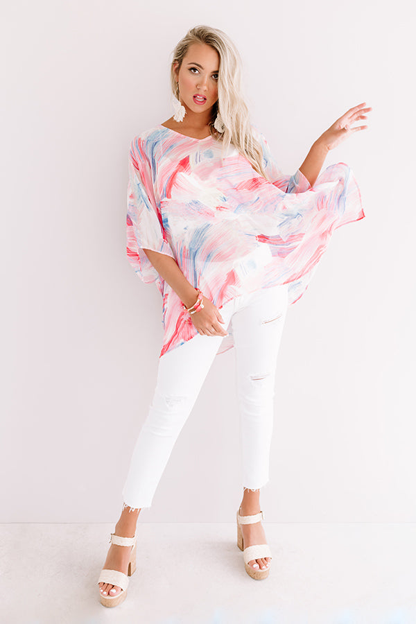 Call The Haute-Line Tunic In Pink