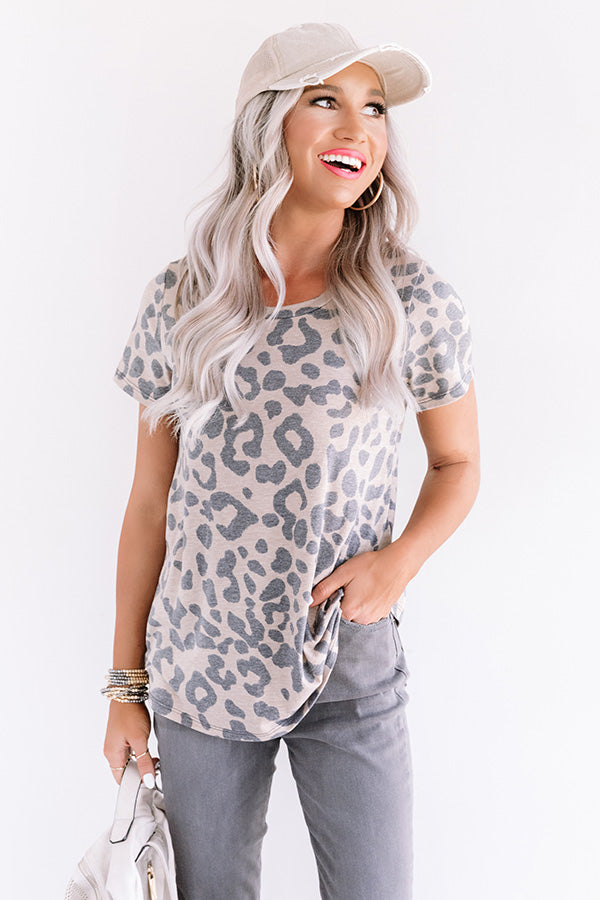 Living In NYC Leopard Tee