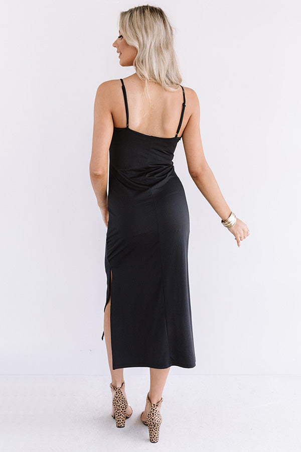 Time To Toast Midi In Black