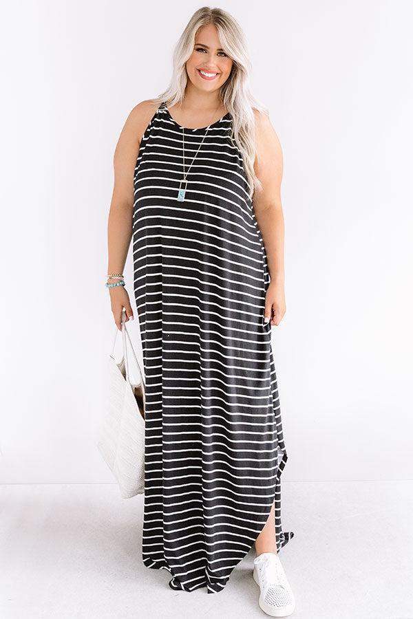 St. Tropez Promise Stripe Maxi In Black