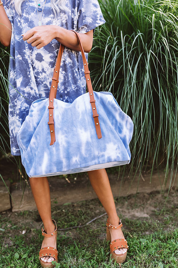 New Crush Canvas Tie Dye Tote